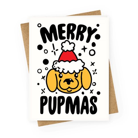 Merry Pupmas Greeting Card