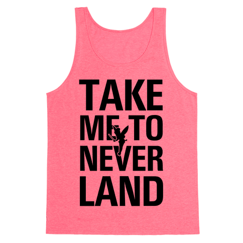 Take me to Neverland (Neon Green) Tank Top