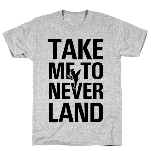 Take me to Neverland (Neon Green) Mens T-Shirt