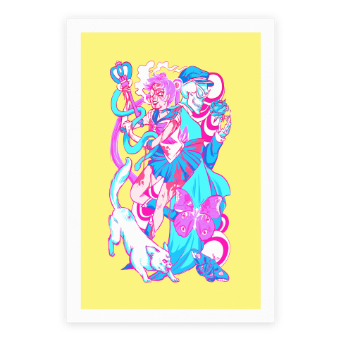 Rainbow Horror Senshi Parody Poster
