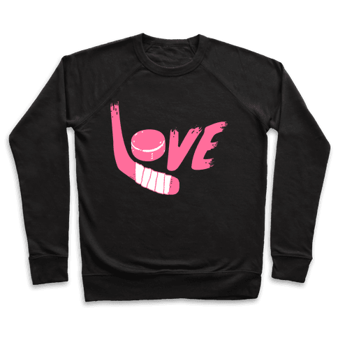 Love Hockey (Pink Letters)  Pullover