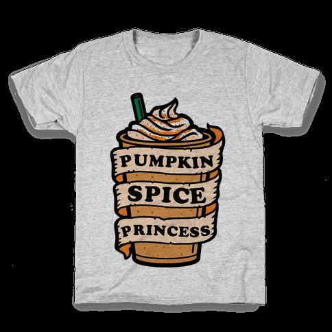 Pumpkin Spice Princess Kids T-Shirt