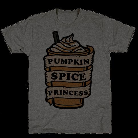 Pumpkin Spice Princess Mens T-Shirt