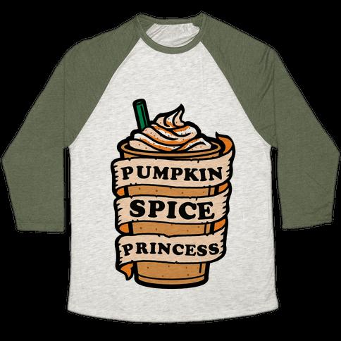 Pumpkin Spice Princess Baseball Tee