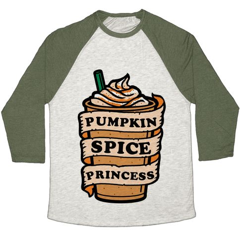 Pumpkin Spice Princess Baseball Tee