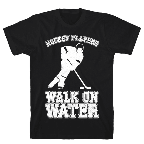 Hockey Players Walk On Water Mens T-Shirt