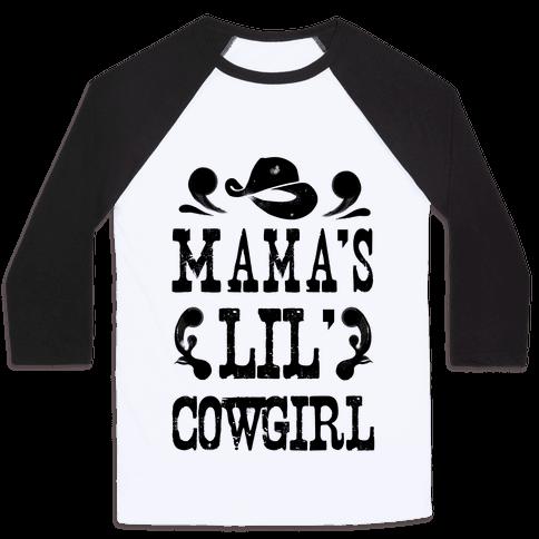 Mama's Lil' Cowgirl Baseball Tee
