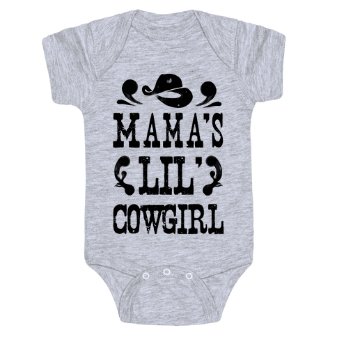 Mama's Lil' Cowgirl Baby Onesy