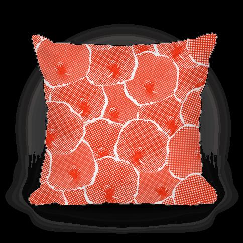 Red Poppy Flower Pattern