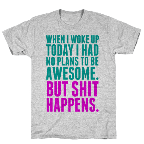 No Plans to Be Awesome Mens T-Shirt