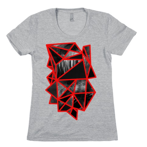 Geometric Collage Womens T-Shirt