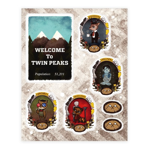 Twin Peaks Sticker and Decal Sheet