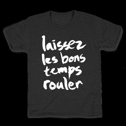 Laissez Les Bons Temps Rouler Kids T-Shirt