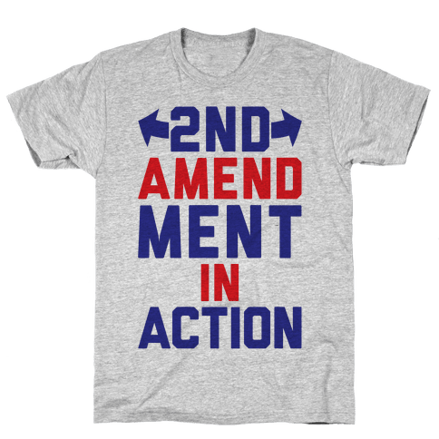 2nd Amendment In Action Mens T-Shirt