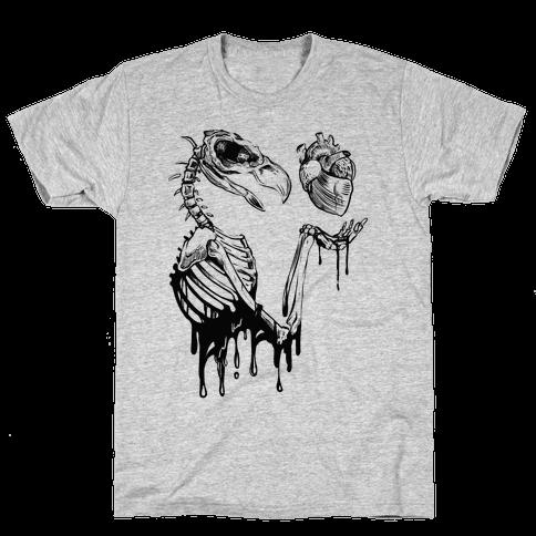 Heart Vulture Mens T-Shirt