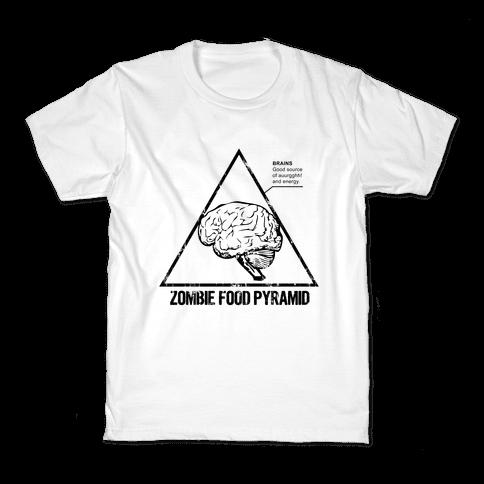 Zombie Food Pyramid Kids T-Shirt
