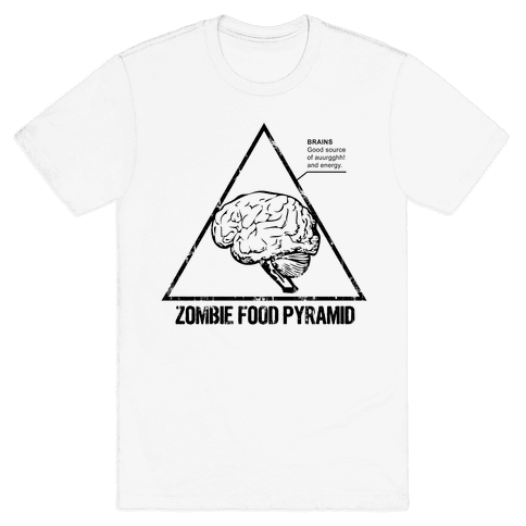 Zombie Food Pyramid Mens T-Shirt
