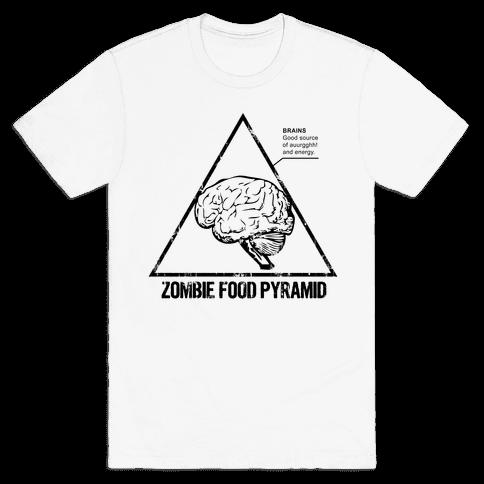 Zombie Food Pyramid Mens T-Shirt