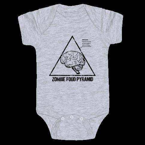 Zombie Food Pyramid Baby Onesy
