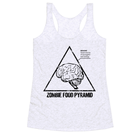 Zombie Food Pyramid Racerback Tank Top