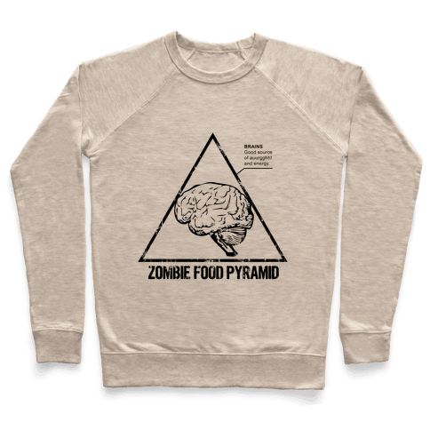 Zombie Food Pyramid Pullover