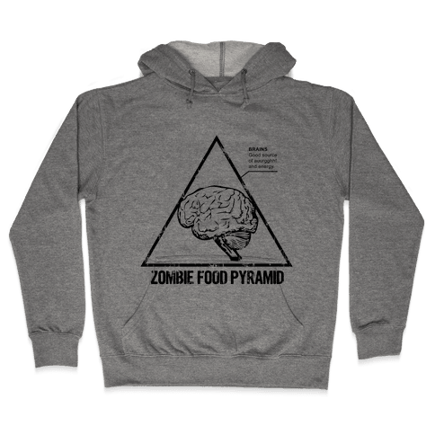 Zombie Food Pyramid Hooded Sweatshirt