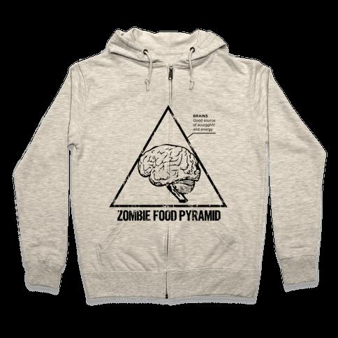 Zombie Food Pyramid Zip Hoodie