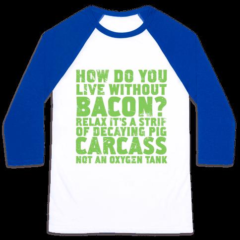 Dumb Questions Vegetarians Get Asked Baseball Tee