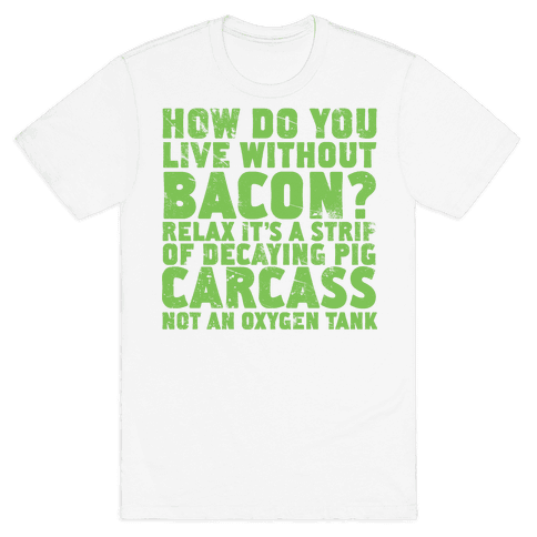 Dumb Questions Vegetarians Get Asked Mens T-Shirt
