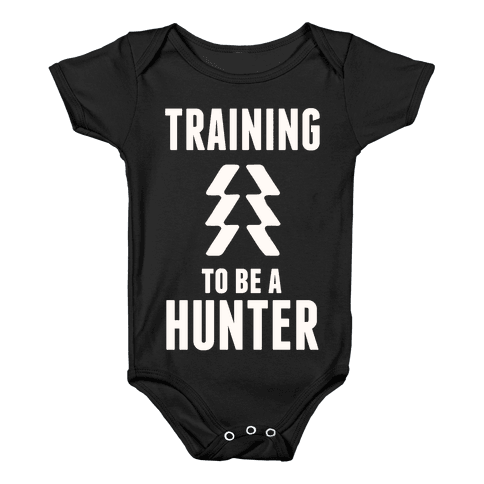 Training To Be A Hunter Baby Onesy