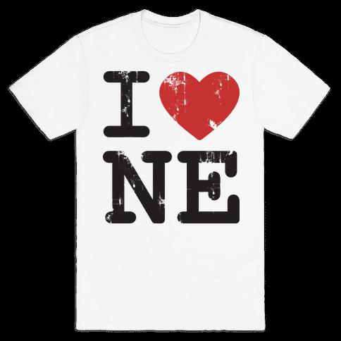 I Love Nebraska Mens T-Shirt