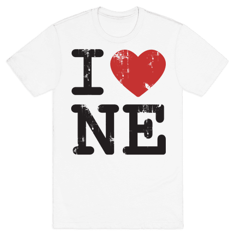I Love Nebraska Mens T-Shirt