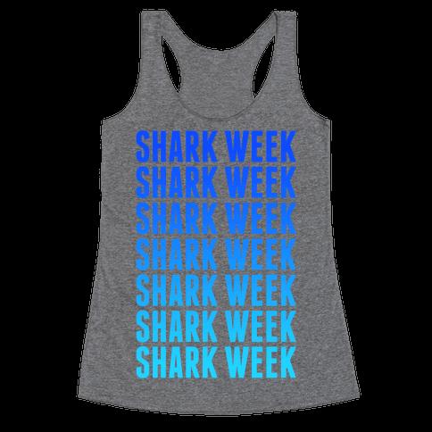 Shark Week Racerback Tank Top