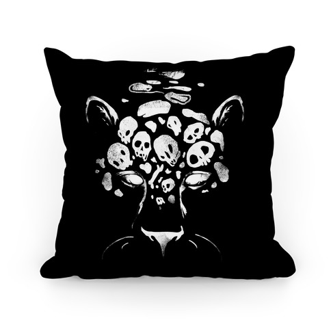 Spooky Skulls Jaguar Pillow