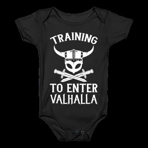 Training To Enter Valhalla Baby Onesy