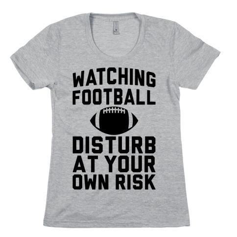 Watching Football Womens T-Shirt