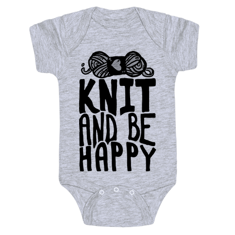 Knit And Be Happy Baby Onesy