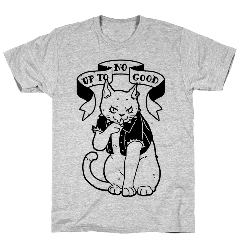 Up to No Good Pastel Goth Kitty Mens T-Shirt