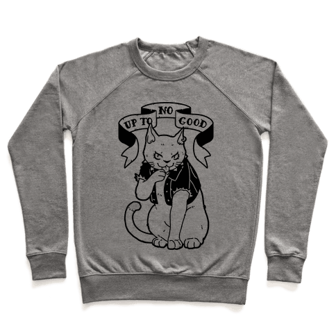 Up to No Good Pastel Goth Kitty Pullover