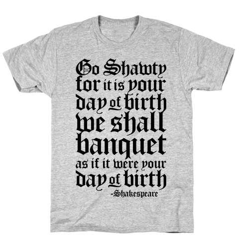 Shakespeare Party T-Shirt