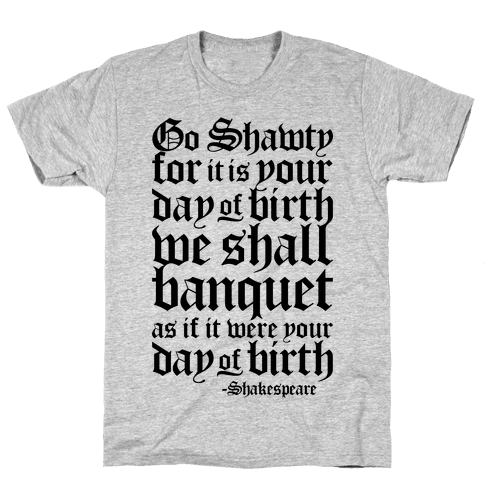 Shakespeare Party Mens T-Shirt