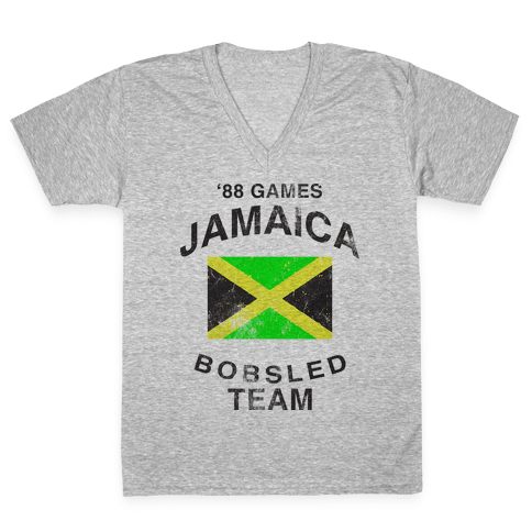 Jamaica Bobsled Team (Vintage Tank) V-Neck Tee Shirt