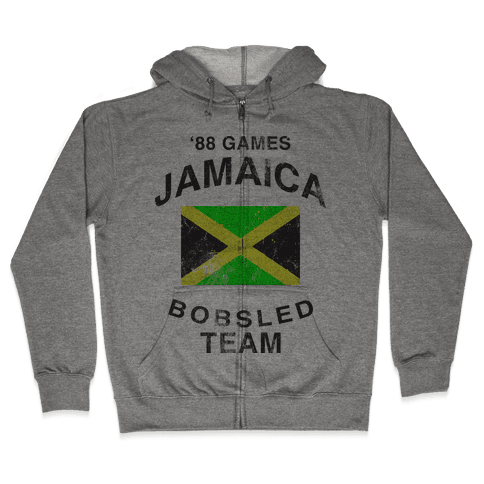 Jamaica Bobsled Team (Vintage Tank) Zip Hoodie