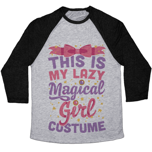 This Is My Lazy Magical Girl Costume Baseball Tee