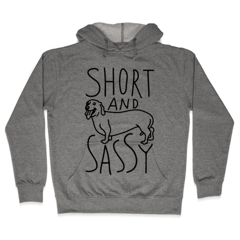 Short And Sassy Dachshund Hooded Sweatshirt
