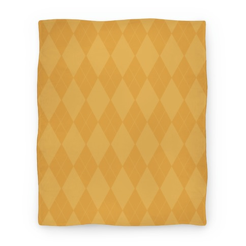 Gold Argyle Blanket
