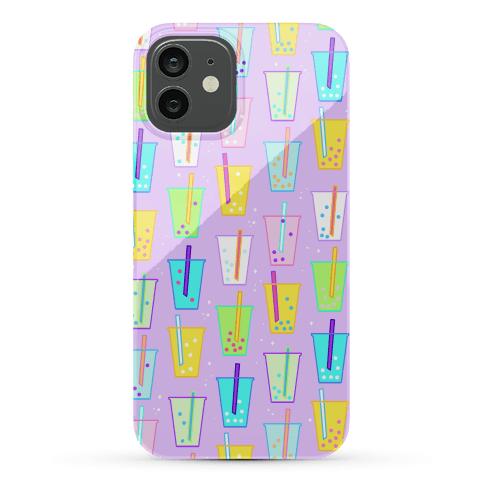Boba Bubble Tea Pattern Phone Case