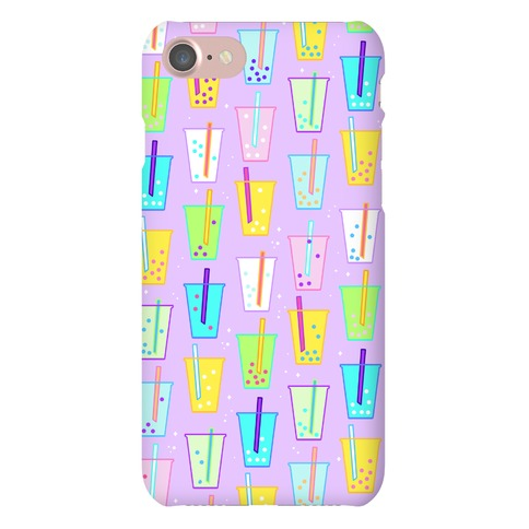 Boba Bubble Tea Pattern Phone Case