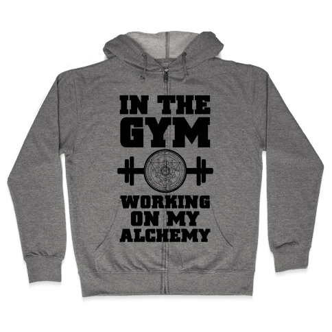 In the Gym Working on my Alchemy Zip Hoodie