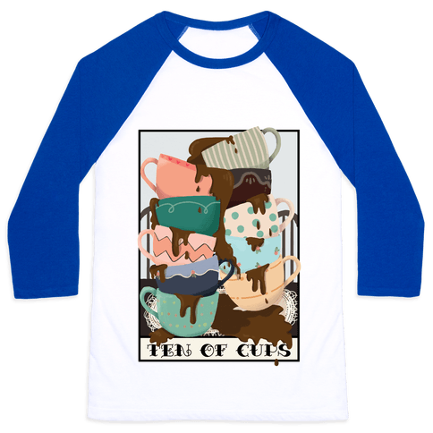 Ten Of Cups (Coffee) Tarot Card Baseball Tee